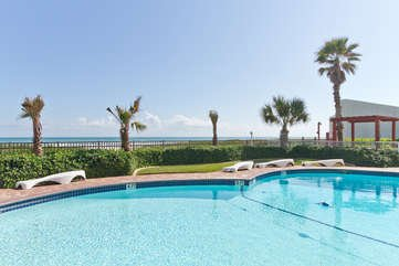 Pool Area - Aquarius #501 - South Padre Island - rentals