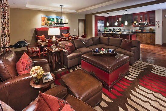 Living Room - One Steamboat Place - Mount Yale - Ski-in/Ski-out Luxury - Steamboat Springs - rentals