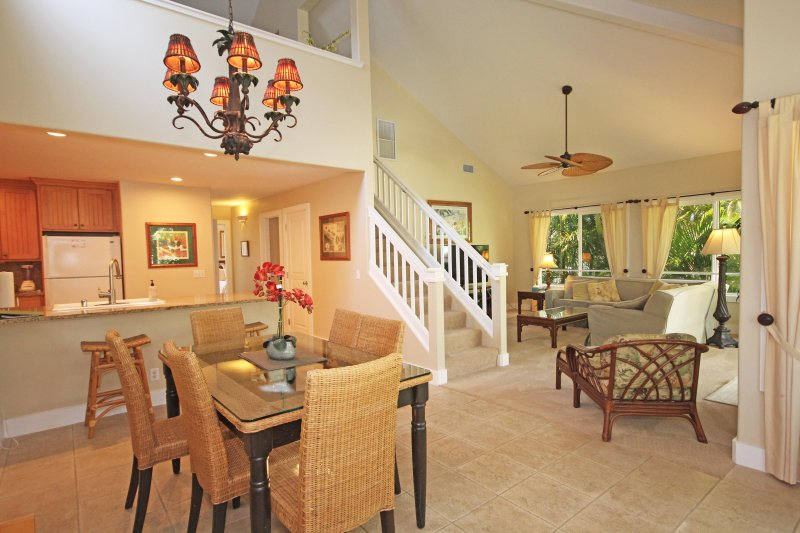 Living Area of Regency 621 - Regency 621 - Central AC, 3 bedroom/3 bath within walking distance to Poipu Beach! Pool, hot tub. - Koloa-Poipu - rentals