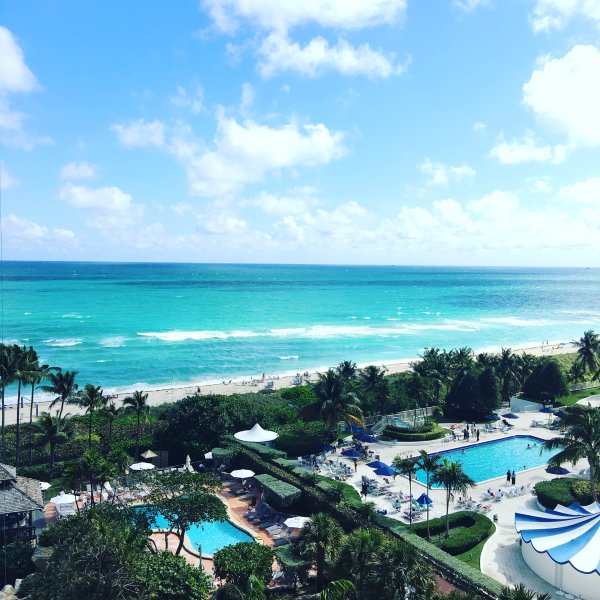 View from our balcony - Deluxe Signature Suite - 2 bed/2 bath - Suite 1007 - Miami Beach - rentals