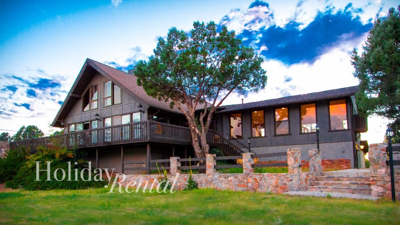 HUGE 7 bedroom cabin with guest house! Views, tennis court, game rooms, private! - Image 1 - Payson - rentals