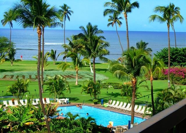 View from Maui Sunset A509 - Maui Sunset #A509  Oceanfront Panoramic Ocean Views 1 Bd 2 Bath Great Rates! - Kihei - rentals
