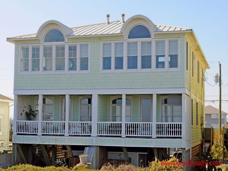Oceanfront Exterior - Point in Tide - Topsail Beach - rentals