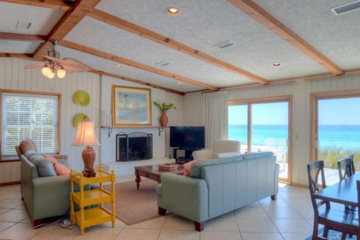 Welcome to Fine View, a lovely four bedroom house right on the beautiful white sand beaches of 30A! - Gulf Front Bungalow! Relax 30A Style! Steps from Porch to Sugar Sand Beach! - Seacrest Beach - rentals