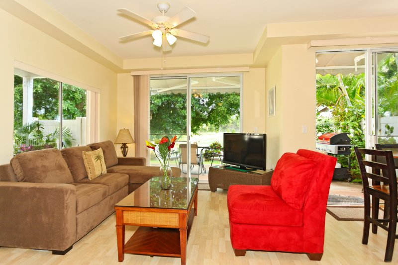The Living Area with a View to the Golf Course - Fairways at Ko Olina 18C - Kapolei - rentals