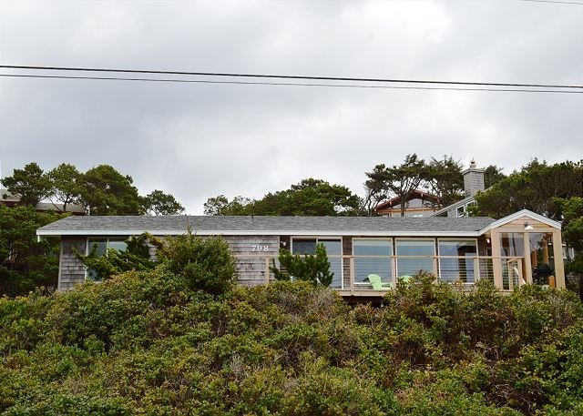 Street view of Brynmarie - BRYNMARIE ~MCA# 580 ~ With Spectacular Ocean Views and walkable to town! - Manzanita - rentals