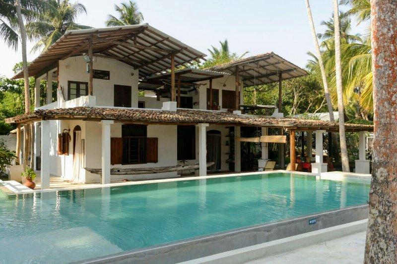 villa - Deep Blue Sri Lanka Rentals: Colonial Villa Seafront - Matara - rentals