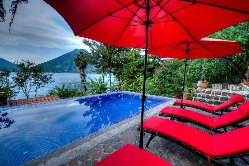 3 Bedroom Lakefront Villa with Pool and Hot Tub - Image 1 - San Marcos La Laguna - rentals