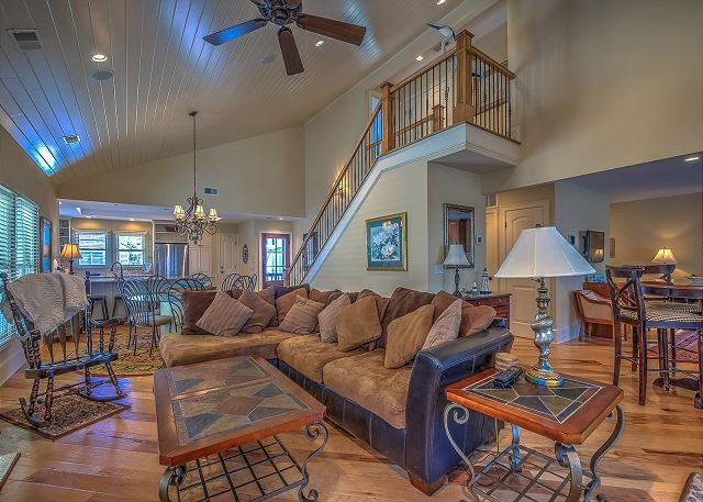 Living Area - 3 Beachside- 5 Bedroom Home, 25 yards to the beach - Hilton Head - rentals