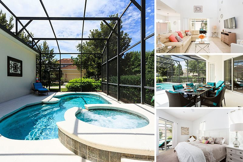 Homestead Bliss | Homestead Villa Situated on Corner Lot with South Facing Pool, Located Near Seven Eagles Pool & Spa & Upgraded Modern Dcor - Image 1 - Kissimmee - rentals