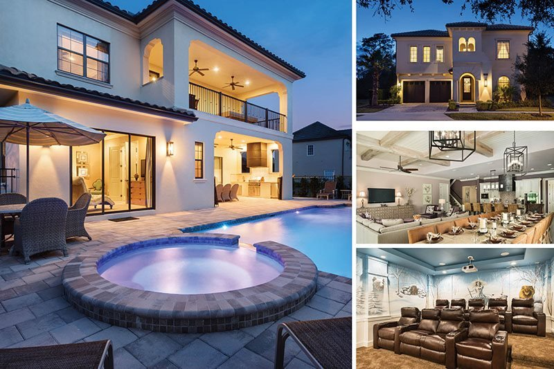 Orlando Retreat | 9 Bed Mediterranean Villa with Amazing Movie Theater, Theme Rooms with Custom Bunk Beds, Games Room & Luxury Throughout - Image 1 - Kissimmee - rentals