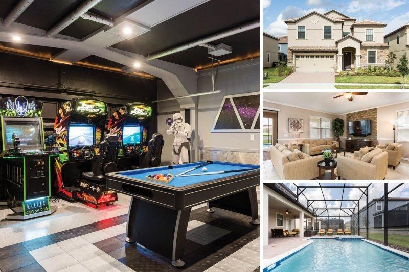 Champion Villa | Luxury and Upgrades Throughout, Star Wars Theme Game Room, Arcades, Furnished Dec 2015 - Image 1 - Davenport - rentals