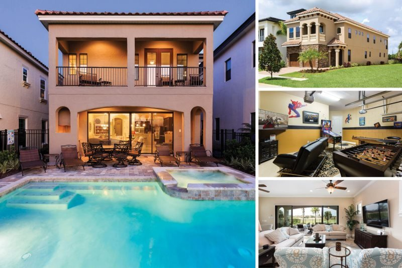 Floridian Bliss | 5 Bed Villa with Beautiful Sunset Golf Course Views, West Facing Pool with Summer Kitchen, Mickey Mouse Themed Room, 70-inch TV, PS4 & 2 Games Rooms - Image 1 - Kissimmee - rentals