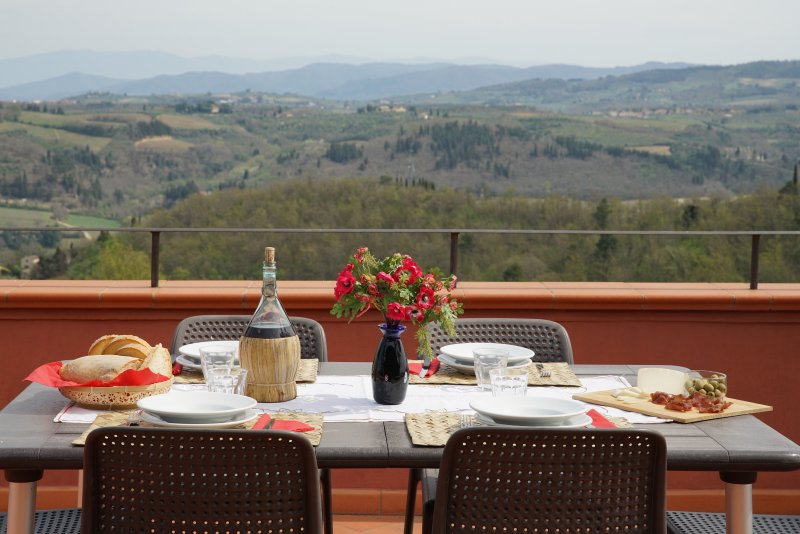Chianti Tuscany Spectacular Picture Postcard Views-Visit Wineries-Casa Rossa - Image 1 - San Casciano in Val di Pesa - rentals