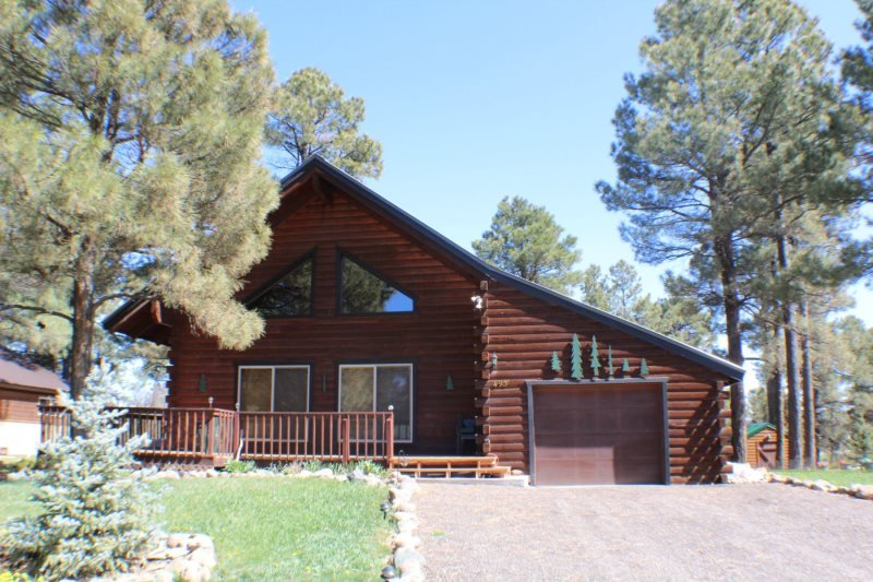 Oakwood offers the best of mountain living in this vacation cabin, centrally - Image 1 - Pagosa Springs - rentals