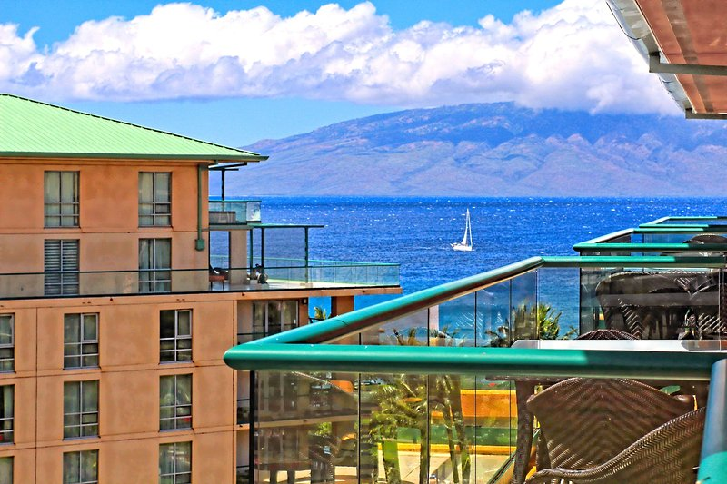 Maui Resort Rentals: Honua Kai Konea 710 – Top Floor 1BR w/ Ocean & Mountain - Image 1 - Lahaina - rentals