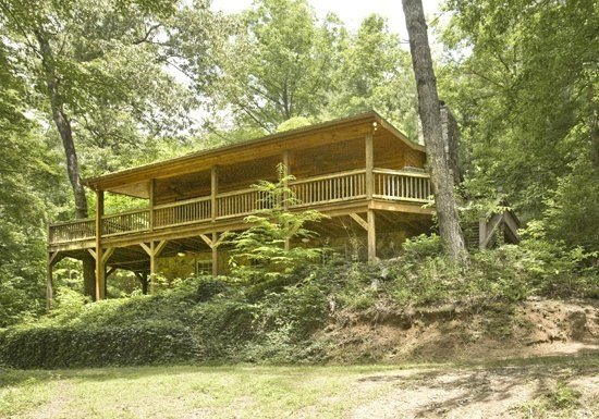 MISTY LAKE LODGE- 3BR/3BA CABIN SITTING ON 10 SECLUDED ACRES WITH A PRIVATE - Image 1 - Blue Ridge - rentals