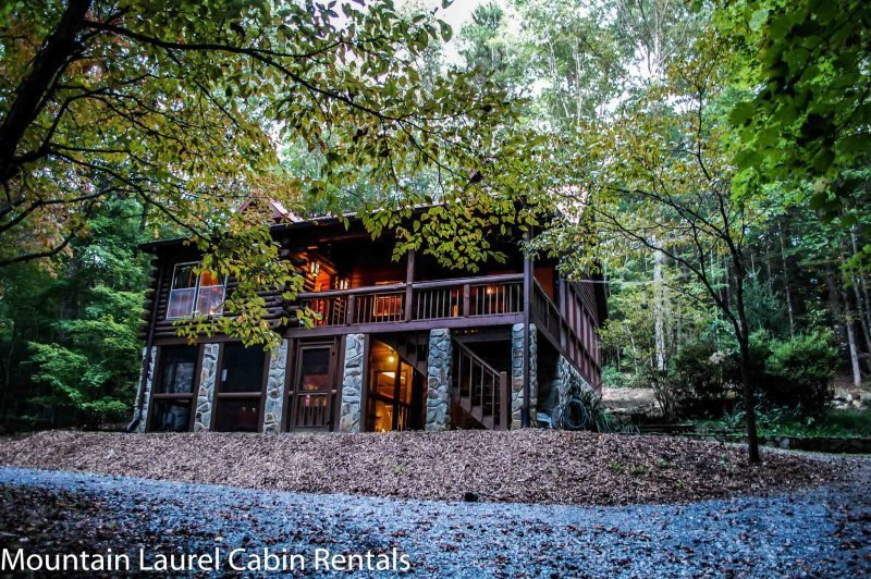 DEER MEADOW- 2BR/3BA- SECLUDED CABIN SLEEPS 8, HOT TUB, CHARCOAL GRILL, FIRE - Image 1 - Blue Ridge - rentals