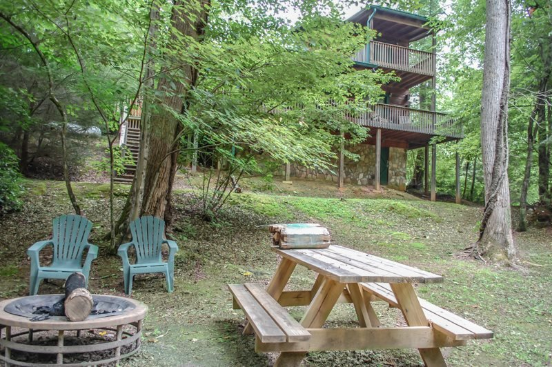 OUR FAVORITE PLACE- 2BR/2BA- CREEK FRONT CABIN SLEEPS 8, SAT TV, PRIVATE HOT - Image 1 - Blue Ridge - rentals