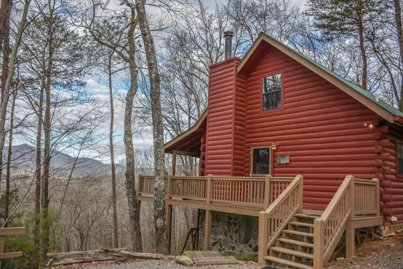 A BIRDS EYE VIEW- 2BR/2BA- CABIN SLEEPS 6, BEAUTIFUL MOUNTAIN VIEW OF THE - Image 1 - Cherry Log - rentals