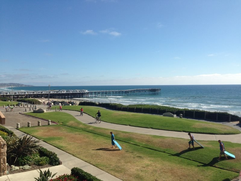 Leah`s Oceanfront Condo: On Boardwalk, Ocean View, Pool, Hot tub, Walk to - Image 1 - Pacific Beach - rentals