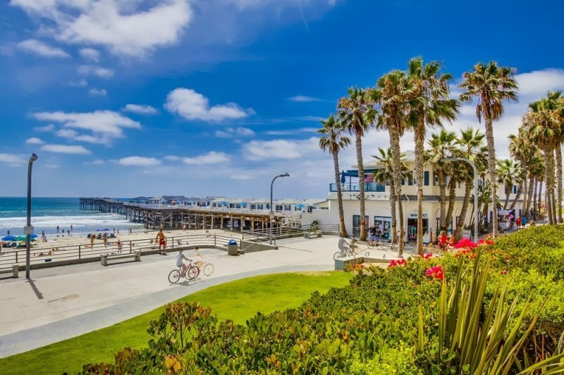 Crystal`s See the Sea Condo: On Boardwalk at Crystal Pier, Portable AC in bdrm - Image 1 - San Diego - rentals