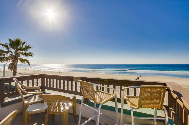 Rich`s Boardwalk Bungalow with Panoramic Ocean Views: Oceanfront 2 Bdrm Condo - Image 1 - San Diego - rentals