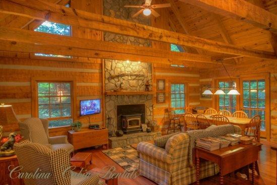 3BR Cabin, Seven Devils Mountain, Fire Pit, Grills, Hammock, Wooded, Creekside - Image 1 - Seven Devils - rentals