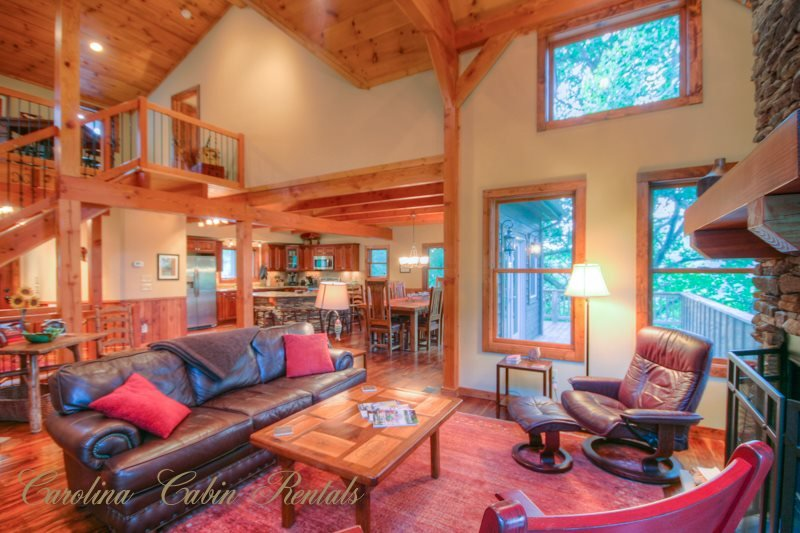 4BR Timber Frame. Pool Table, Hot Tub, Views, Between Boone and Banner Elk - Image 1 - Sugar Grove - rentals