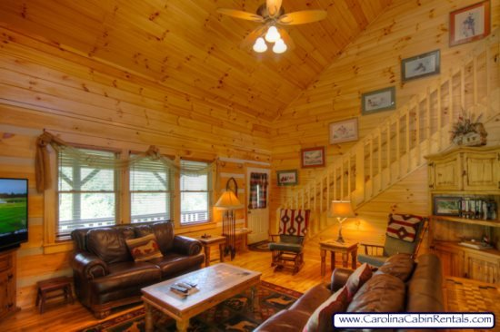 3BR Log Cabin, Close To Town, Hot Tub, Marble, Copper, Flat-Screen, Covered - Image 1 - Boone - rentals