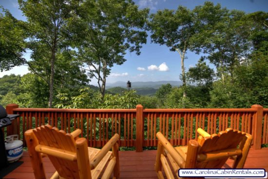 3BR NC Cabin with Forever Views, Beautiful Outdoor Fireplace and Flagstone - Image 1 - Valle Crucis - rentals