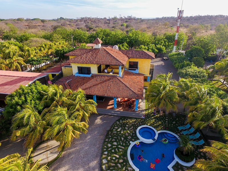 Aerial view of Pochomil home - Beachfront Large Spanish Estate - Pochomil - rentals