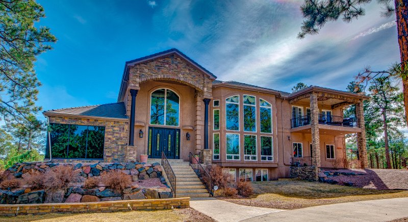 Front view of the property on a beautiful summer day. - Paris Louvre Resort - 7,844 Sf. 5BR, 6BA, 6FP - Black Forest - rentals