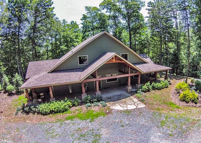 Main Front View  - 6 Acres, Sleeps 10, Dog Friendly!,HOT TUB, HIKE, Fish, Canoe, or Just Relax! - Deep Gap - rentals