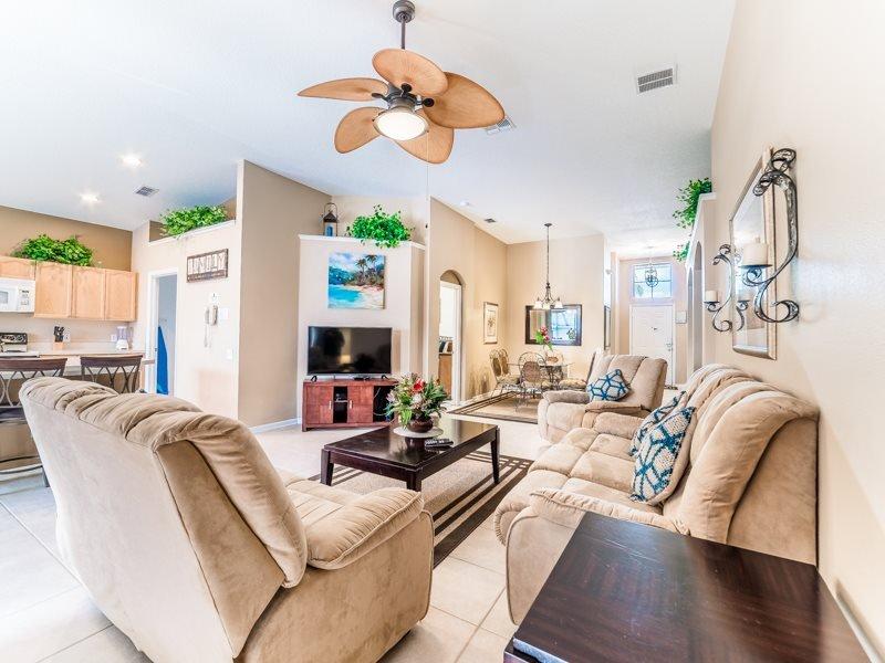 4 Bedroom 3 Bath Pool Home in Windsor Palms Gated Resort. 8104FPW - Image 1 - Orlando - rentals