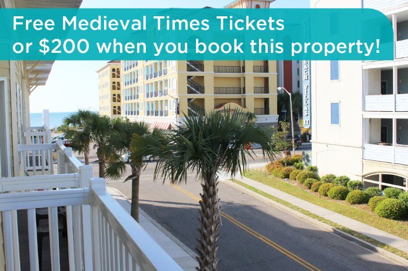 Get free Medieval Times tickets or a $200 prepaid gift card when you book this property! - Stunning Ocean 7 Vacation Condo with Pool Table and Right Next to Beach - Myrtle Beach - rentals