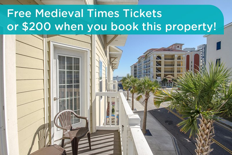 Get free Medieval Times tickets or a $200 prepaid gift card when you book this property! - Beautiful, large condo, new kitchen, walk to beach, walk to Family Kingdom! - Myrtle Beach - rentals