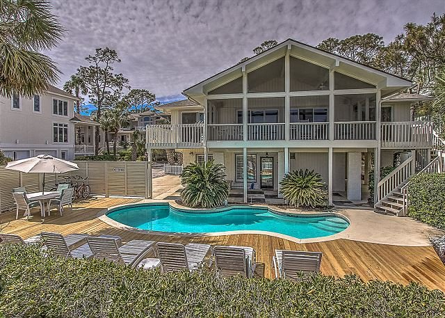 Exterior - 13 Dune Lane - Oceanfront  & Large Screened Porch - Hilton Head - rentals
