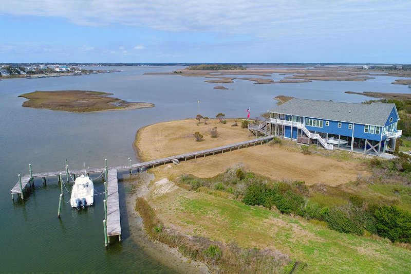Barton Bay March 2017 - Barton Bay Ct 113 | Stay surrounded by water, Watch sailboats, FISH! - North Topsail Beach - rentals