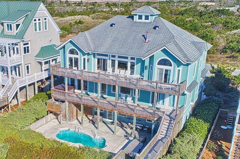 124 Ocean View - Ocean View Ln 124 Oceanfront! | Private Heated Pool, Hot Tub, Elevator - North Topsail Beach - rentals