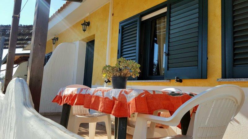terrace - PORTO PINO VILLETTA  OLEANDRO -2 BEDROOMS- - Sant'Anna Arresi - rentals