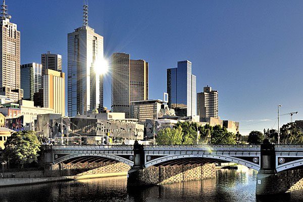 View to Southbank - our building is on the very left - Southbank Melbourne CBD - Walking distance to everything  2/3 bedroom 2 bathroom - Melbourne - rentals