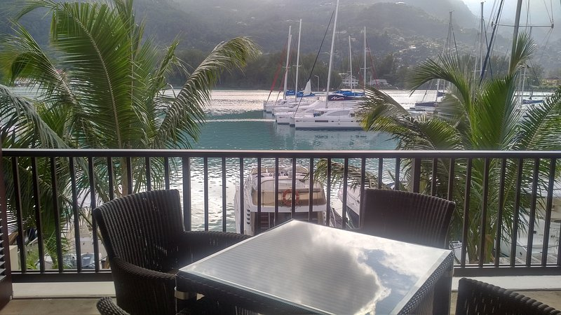 View from Veranda - Eden Island Marina Apartment - incl. Electric Car,WIFY, Sat TV - next to Pool - Eden Island - rentals
