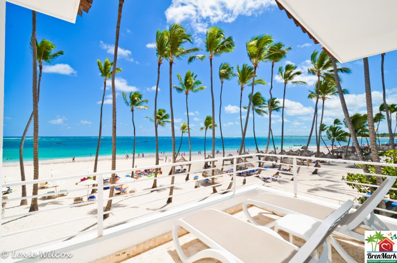 Gorgeous view from front terrace - 3rd floor - Beach Front Condo- Bavaro Punta Cana - Punta Cana - rentals