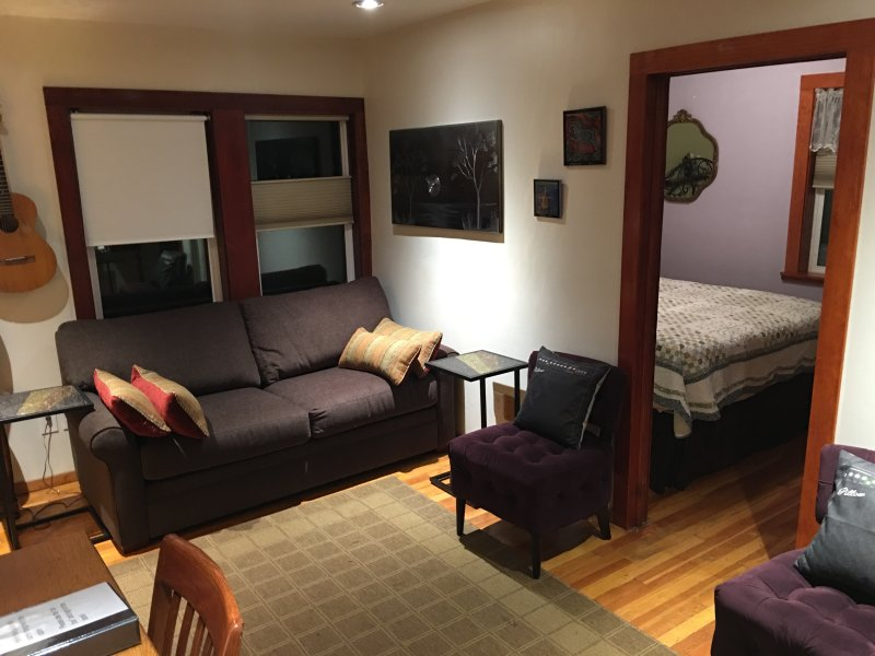 2 QUEEN BEDS SLEEPS 4 NEW SWEET PULL OUT COUCH!  - Private cabin sleeps 4 tricked out with BBQ fire pit  washer dryer privacy - Glenwood Springs - rentals