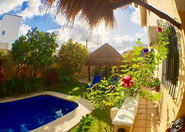 YOU WILL LOVE THIS VILLA, AFFORDABLE, WALK TO BEACH OR TOWN, AC/POOL & MORE! - Image 1 - Puerto Morelos - rentals