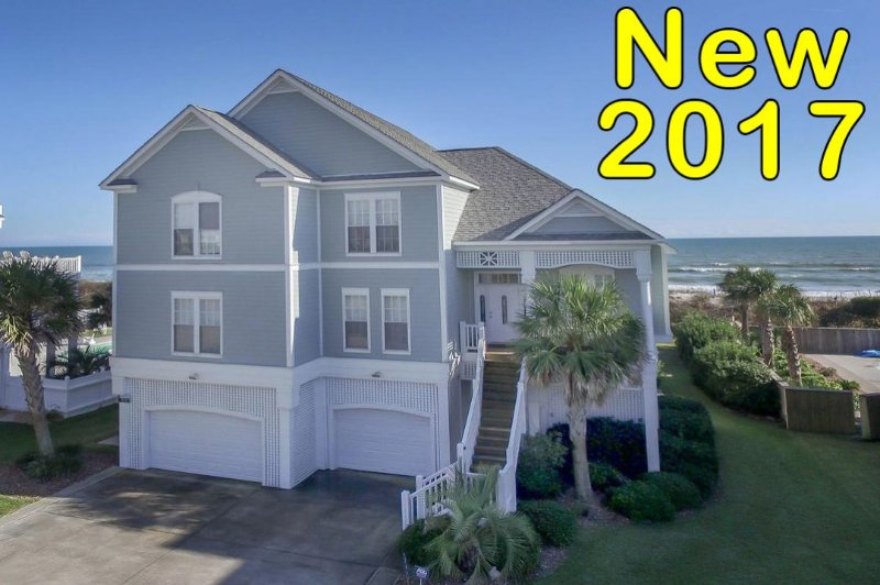 760 New River what a house! - New River Inlet Rd 760 Oceanfront! | Jacuzzi, Internet, Fireplace - North Topsail Beach - rentals