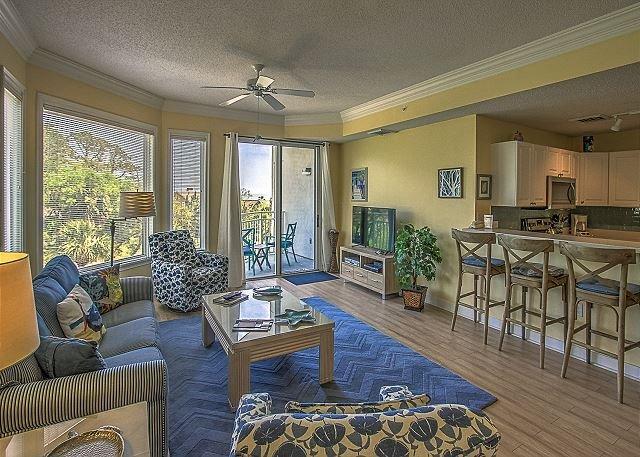 Living Area - 2301 SeaCrest-3rd Floor, Awesome Beach Location - Hilton Head - rentals