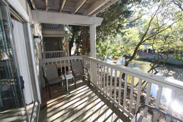 Private deck overlooking the lagoon, one for each bedroom - Spacious 2 BD/2 BA Lagoon Views in Wild Dunes-IOP - Isle of Palms - rentals