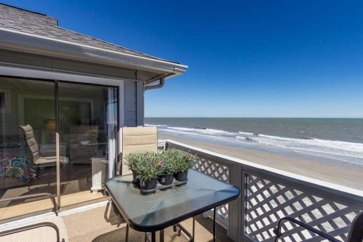 This is the view you and your family will enjoy, this isn't a model unit.  Door is to the master bedroom.  Plants are the owner's, they won't be there - South Shores II 302 - Surfside Beach - rentals